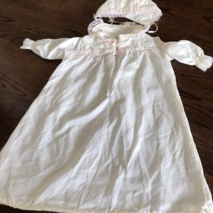 Baby Dior gown with hat